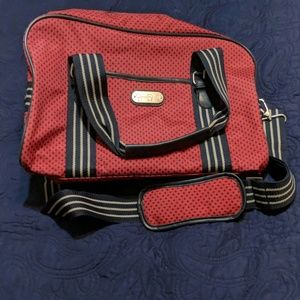 Handbags - Red and blue carry-on tote